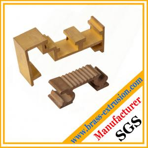 China golden color brass extruded profile sections for windows and doors on sale