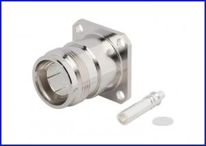 China Coaxial connector design 4.3 10 straight female semi-rigid four-hole flange connection. 250 lines on sale