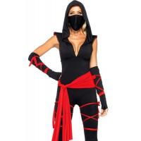 Hero Costumes Wholesale Spandex Black Sexy Ninja Costume with size S to XXL