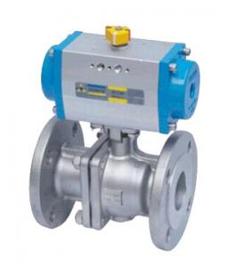 China Double Acting Actutator Stainless Steel Flanged Ball Valve on sale