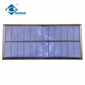 China ZW-16675 Customized Epoxy Resin Solar Panel for solar battery charger 1.6W 6V on sale