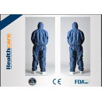 PP Disposable Protective Coveralls Industrial Workwear White / Yellow / Blue Color