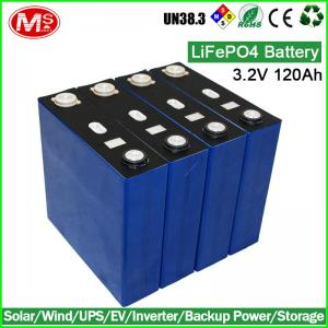 China Home generator rechargeable lithium battery 3.2V 120ah LiFePO4 battery cell on sale