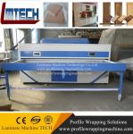 Double work tables MDF vacuum membrane press machine