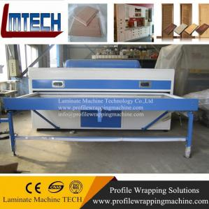 China Wooden color PVC membrane kitchen cabinet vacuum membrane press machine on sale