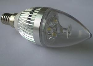 China High Power 3W 240lm LED Candle Bulbs Light Cold White 90 Ra Epistar LED Bulb on sale