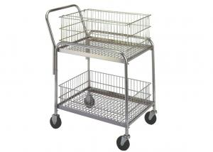 China 33L X 20W X 37-1/2 Rolling Mail Cart 200 Lb Load Capacity Removable Baskets on sale