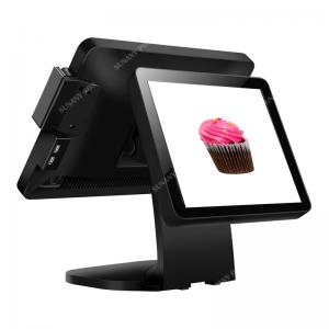 China Dual 15 inch Touch screen china POS terminal restaurant system for Pint of Sale with good quality on sale