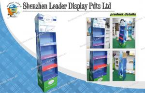 China Tiered Free Standing Cardboard Display Shelf For Air Cleaner In The Supermarket on sale