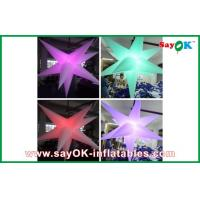 China Purple Hanging Nylon Cloth Led Lighting Decoration Inflatable Flowers on sale