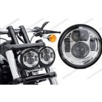 China Waterproof Motorcycle Driving Lights , 5 Inch Round LED Headlights High Low Beam For Jeep on sale