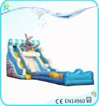 China Inflatable commercial water park products Water Slides, seal sea dog type inflatable slide wholesale