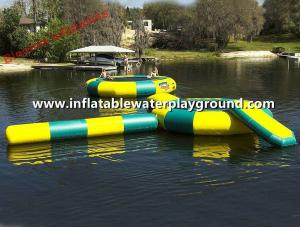 China Bongo Huge Inflatable Water Trampoline Combo , Floatable Trampoline Water Park on sale