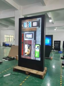China Customized 86'' Wall Mount LCD Screen , Outdoor Advertising LCD Display Touch Kiosk on sale