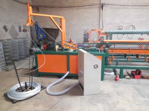 China Cheap Hot sale 2 worms fully Automatic chain link fence machine with compact roll on sale