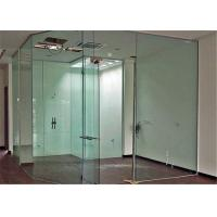 Clear Flat Tempered Glass Partition Wall / Glass Partition Size Customized