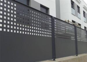 China Slip Resistance Architectural Perforated Metal Panels Aesthetic Appeal For Residential Perimeter Fence on sale