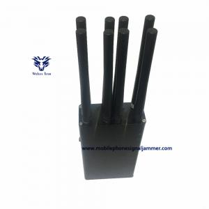 China 3G 4GLTE 4G WIMAX Mobile Phone Signal Jammer 8 Antenna HandheldType CE Approval on sale