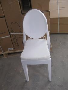China White Victoria Ghost Chair Stackable , Dining Plastic Chair For Rental on sale