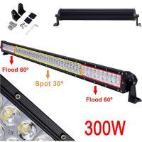 China LED Light Bar 300W Led Fog Driving Lights Flood Spot Combo Work Light Bar for Off-road Vehicle, ATV, SUV, UTV, Jeep, Boa on sale