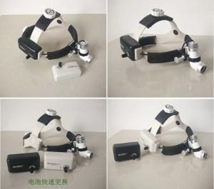 China Wireless 3 W LED Surgical Medical HeadLamp Headlight Medical Headlight with 2 Battery on sale