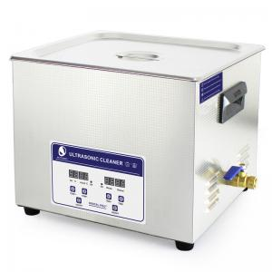 China JP -060S 40KHz 15L Benchtop Ultrasonic Cleaner , electric fule stencil ultrasonic cleaning machine on sale