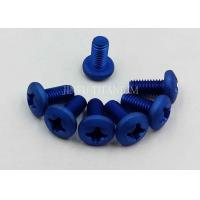 China Blue Cross Recessed Head Screw , Gr2 Cold Forging Blue Titanium Bolts  M2*5 Low Thermal Expansion on sale
