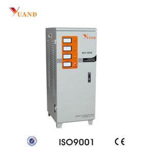 China SVC-15KVA Three Phase Servo Motor Control AC Automatic Voltage Stabilizer on sale