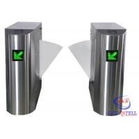 Stainless Steel Retractable Flap Barrier Gate , Bi - directional Multi Access Control Turnstiles