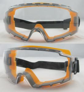 China Orange Frame Mirror Coating Lens Eye Protection Glasses For Outdoor on sale