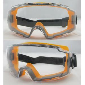 China Orange Frame Mirror Coating Lens Eye Protection Glasses For Outdoor on sale