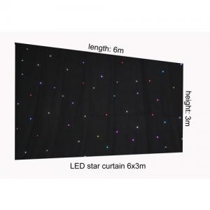 China RGB 6 x 3m LED Star Cloth Curtain , Backdrop Stage Star Light Curtains for Stage Background on sale