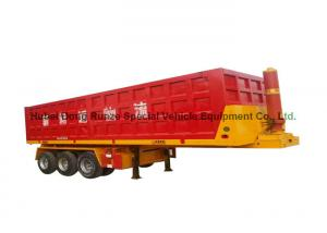 China 3 axles end tipping semi trailer/rear dump semitrailer for truck 50 - 60 Ton on sale