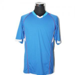 China Stretch Cotton Sky Blue Polo Shirt , Casual Wear Mens Short Sleeve Polo Shirts on sale