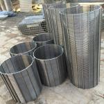 304 Stainless Steel Wedge Wire Sieve Filter Mesh  v Wire Water Well Screens Customized Filter Rating