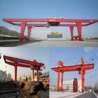 Rail type container gantry crane quayside container crane, 50 t double girder gantry crane