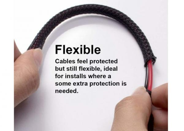 hose cable harness protection braided wire sleeve , pet braided sleeving ul  images