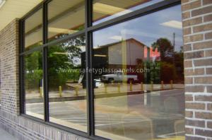 China Bullet Proof Etched Insulated Glass Unit 12mm , Window Glass Thermal Insulation on sale