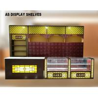 China Chinese Style Pharmacy Display Shelves Medical Shop Racks With Light Box on sale