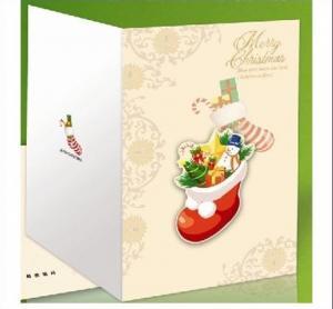 China Custom Handmade Beautiful Decoration Merry Christmas Printable Greeting Cards on sale