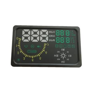 China New 6 LED OBD-II HUD Head Up Display Over Speeding Warning/Speed/Km rpm/Shift Light/Temperature Indicator I6 With Compa on sale