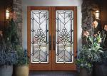 Strength Elegance Comfort Pattern Decorative Panel Glass With Black Chrome