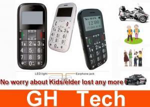 China 子供/年長の人々は実時間追跡の黒い/白GPSの追跡者に電話をかけます on sale