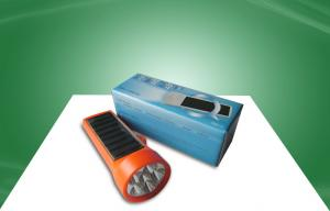 China Energy Saving Solar Powered Products Powerful Solar Rechargeable Flashlight For Night on sale