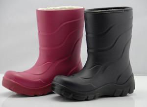 China Size 34 Half Women PU Rain Boots With Lambs Wool Lining on sale