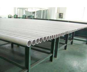 China Tuyau d'acier inoxydable sans couture, JIS G3459 SUS304, SUS316, SUS321, extrémité biseautée, 6m/pc, cas Pli-En bois. on sale