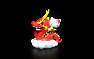 China Red Dragon Custom Plastic Toys Hello Kitty Figure With Chinese Dragon on sale