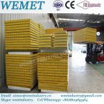 500-1000mm glass wool fire proof insulated wall and roof panel for steel warehouse