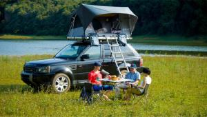 China Hard Cover UV 50+ Roof Rack Pop Up Tent For Your Car 1 Year Warranty on sale