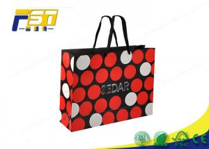 China SGS Customized Logo Recycled Paper Bag UV Coating Surface For Clothing Packaging on sale